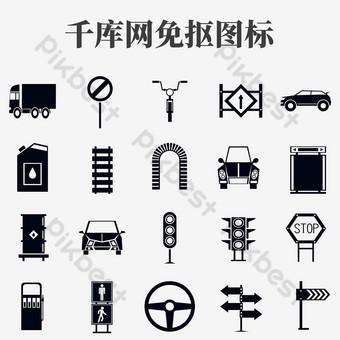 iconos de seguridad vial Elementos graficos Modelo PSD