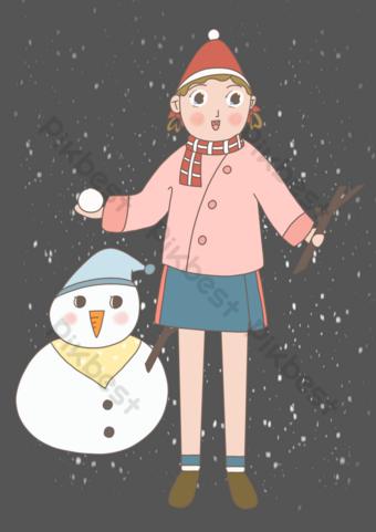 fondo transparente png invierno emocionado muñeco de nieve Elementos graficos Modelo PSD