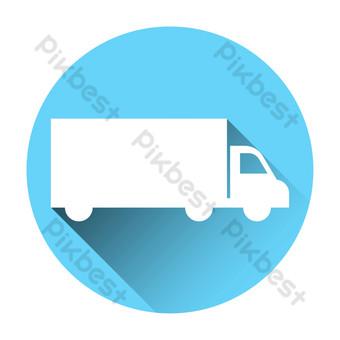 icono de camión Elementos graficos Modelo AI