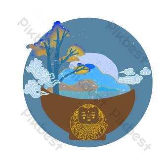 Vingt-quatre termes solaires, calendrier lunaire, saison de gel, climat PNG Éléments graphiques Modèle PSD