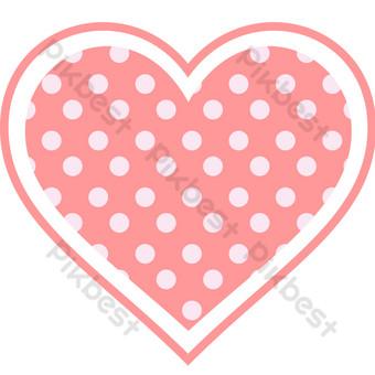 San Valentín rosa amor corazón decoración gráficos vectoriales Elementos graficos Modelo AI