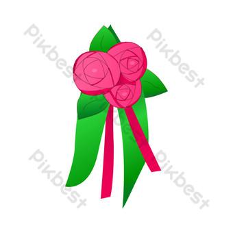 vector hebilla libre flor rosa roja Elementos graficos Modelo AI