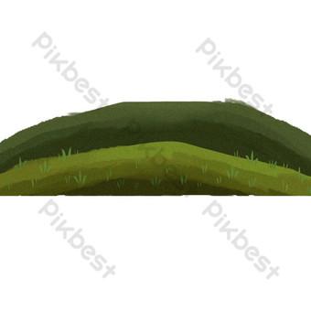 ناقلات الكرتون شقة الطبيعة الخضراء الفضاء صور PNG قالب PSD