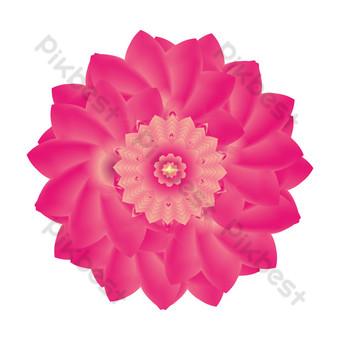 vector digital arte fractal bucle regular gradiente flor roja planta Elementos graficos Modelo AI