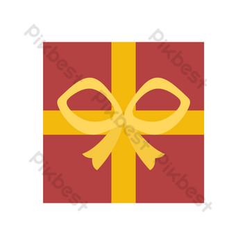 vector plano caja de regalo vista superior Elementos graficos Modelo PSD