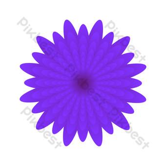 vector dibujado a mano flores moradas Elementos graficos Modelo AI