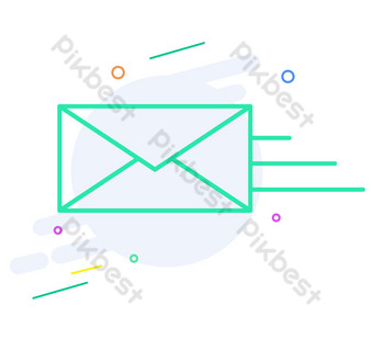 Vector illustration mail sending PNG Images Template AI