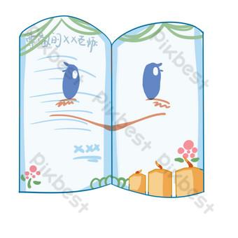 Illustration vectorielle de la carte de voeux bleue du jour des enseignants dessinés à la main Éléments graphiques Modèle PSD