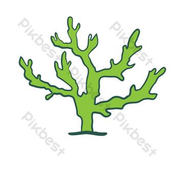 ilustración vectorial de planta de algas Elementos graficos Modelo AI