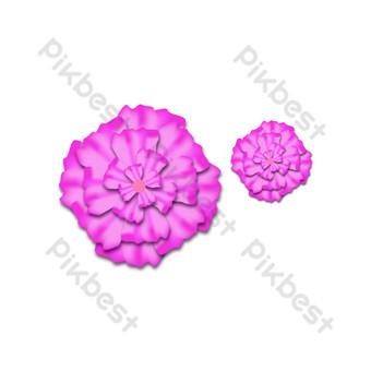 vector de flores de color rosa degradado Elementos graficos Modelo AI