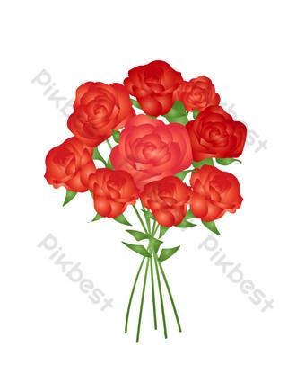 vector rosa roja png gratis Elementos graficos Modelo AI