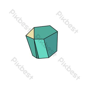 زخرفة البناء باللون الأخضر الدافئ بدون مشبك صور PNG قالب PSD