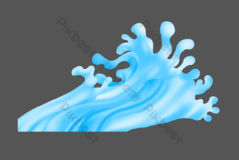 Water wave, ripples, vast sea PNG Images Template PSD