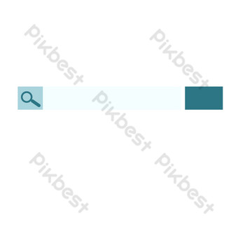 Web search box PNG Images Template PSD
