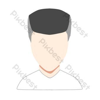 avatar masculino simple blanco t Elementos graficos Modelo PSD