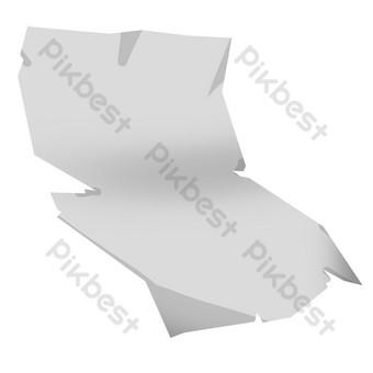 ilustración de papel rasgado blanco Elementos graficos Modelo PSD