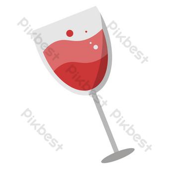 icono de vino Elementos graficos Modelo AI