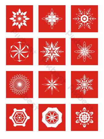 vector de navidad de copo de nieve blanco de invierno Elementos graficos Modelo MAX