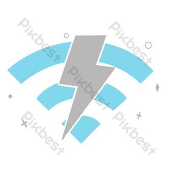 無線網絡無網絡 元素 模板 PSD