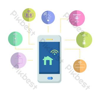 無線網絡電話 元素 模板 PSD