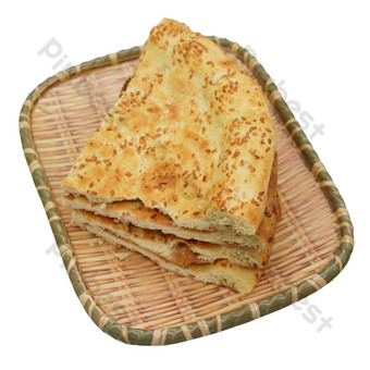 Yellow cut sesame cake PNG Images Template RAW