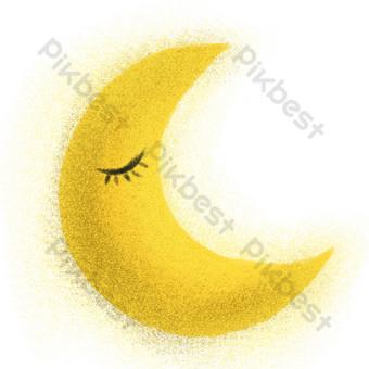 желтая луна свободный вырез Графические элементы шаблон PSD