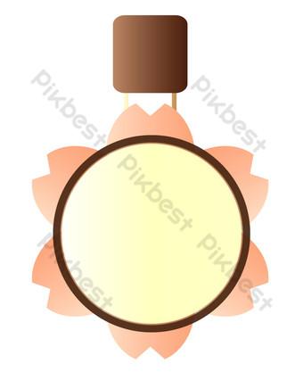 ilustración de placa redonda amarilla Elementos graficos Modelo PSD