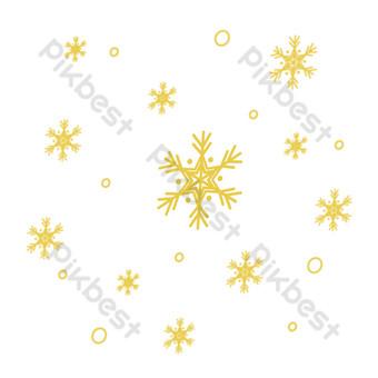 желтая звезда цветок свободный вырез Графические элементы шаблон AI