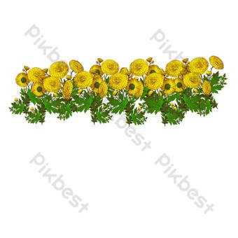 желтый подсолнух цветок свободный вырез Графические элементы шаблон PSD