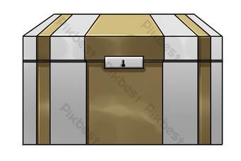 黃色白色儲物盒圖 元素 模板 PSD