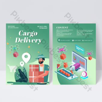 Freight Service Leaflet Template PSD