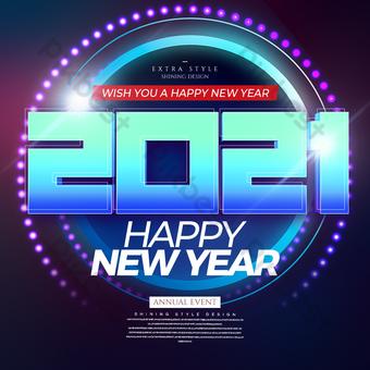 أزياء شخصية خلاقة 2021 مهرجان السنة الجديدة sns قالب PSD