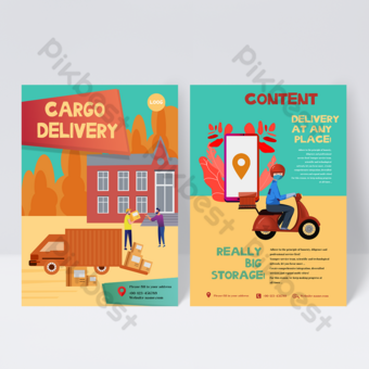 Cargo Delivery Service Flyer Design Template PSD