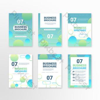 Folleto de negocios de forma abstracta geométrica degradado verde simple Modelo PSD