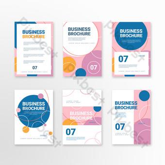 Folleto de negocios de forma abstracta geométrica rosa simple Modelo PSD