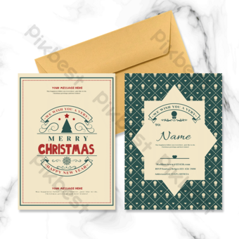 Carte de voeux joyeux Noël événement fête Modèle PSD