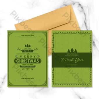 بطاقة عيد الميلاد الديكور عطلة قالب PSD