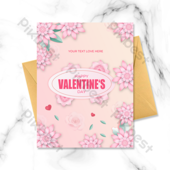 fond dégradé carte de voeux saint valentin Modèle PSD