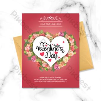 carte de vœux amour saint valentin Modèle PSD
