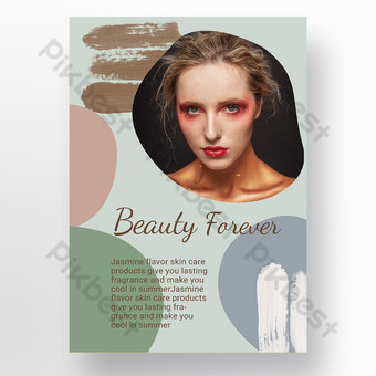 modèle de promotion d'affiche de soins de beauté personnels morandi Modèle PSD