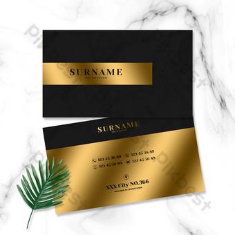 بسيطة الذهب الأسود الأعمال الرخام نمط الخلفية مكتب بطاقة الأعمال قالب PSD