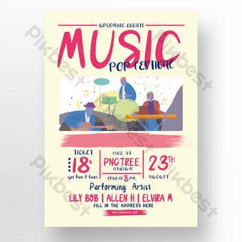 festival de musique pop Modèle PSD