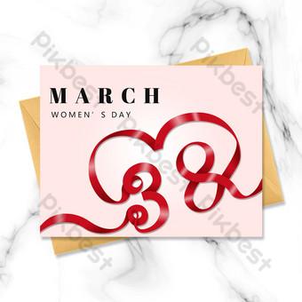 carte postale simple face de carte postale simple face de banderole rouge de jour de déesse Modèle PSD