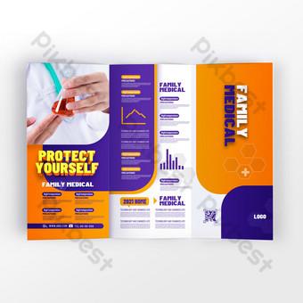 Modern popular health and medical service organization promotion leaflet Template PSD