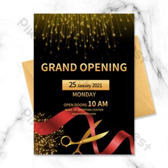 invitation à la cérémonie d'ouverture en or noir Modèle PSD