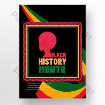 تاريخ أسود شهر التوضيح حرف صورة ظلية اللون قالب PSD
