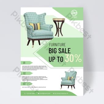 dépliant publicitaire de promotion de meubles Modèle PSD