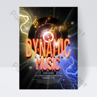 dépliant du festival de musique à effet néon exquis Modèle PSD