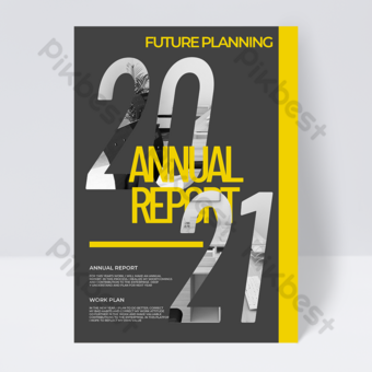 خلفية رمادية الإبداعية 2021 لون الاتجاه التقرير السنوي قالب PSD