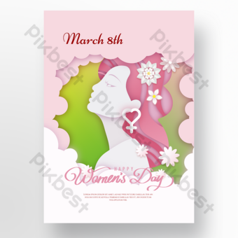White pink silhouette section 38 Template PSD